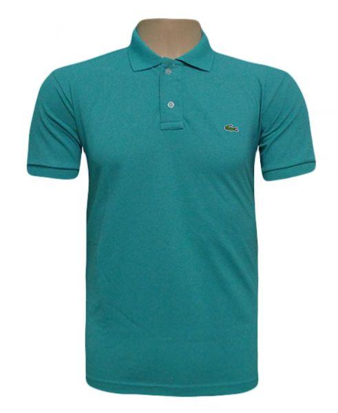 189f8b54d1d Camisa Masculina Polo Lacoste Verde Água MOD 71108 - Loja de ...